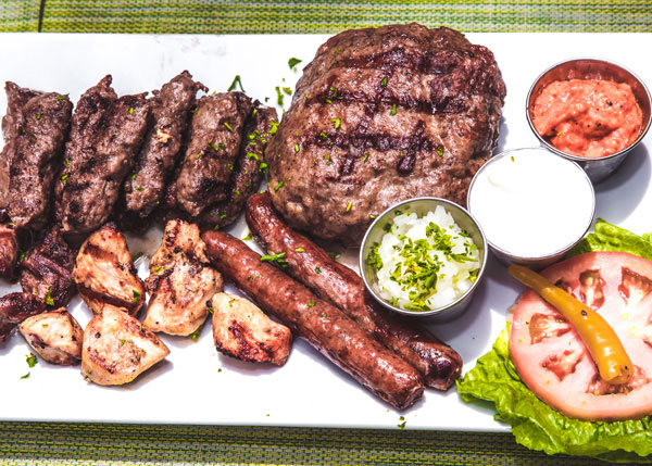 Balkan restaurant food