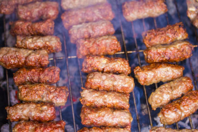 Cevapi on a Grill