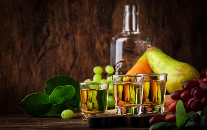 Rakija - Serbian Hard Alcoholic Drink or Brandy From Fermented Fruits