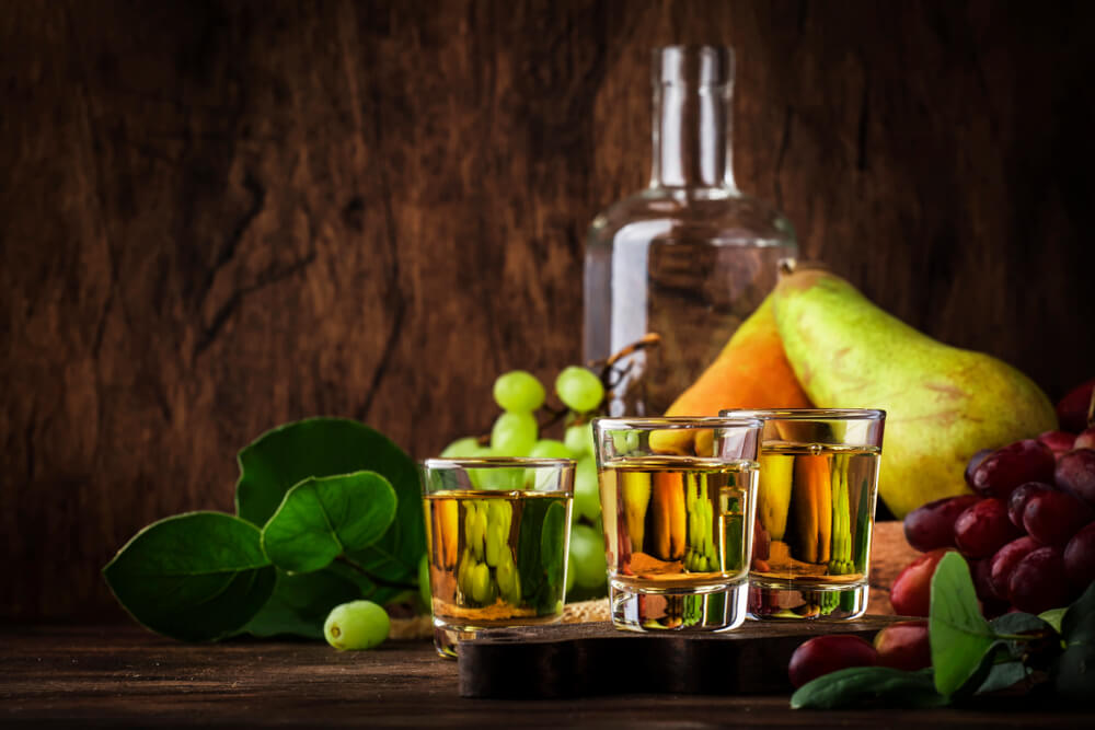 Rakija - Serbian Hard Alcoholic Drink or Brandy From Fermented Fruits